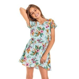 Roxy girls Ariel Her Fantasy Short Sleeve Dress ✨